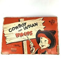 Vintage 1950 Mother Goose PINUPS Cowboy and Indian Little Sourdough complete set