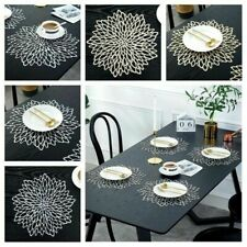 Placemats Dining Table Mat pad Flower Design Washable Dining Wedding Partydecore