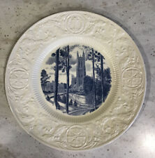 Wedgewood Duke University Vista of Chapel 1930 Collector's Plate