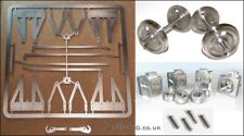 "5"" g. Wagon Underframe Kit - inc. 3 Hole Disc Wheels, Axle Boxes & Springs"