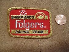 """Vintage T.G.Sheppards Folgers Racing Team Patch New Old Stock 3"""" x 2"""""""
