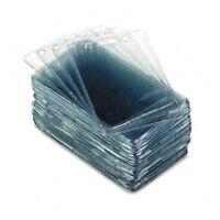 "Advantus 75451 Proximity Badge Holder - 2.4""3.4"" - Vinyl - 50 / Pack - Clear"