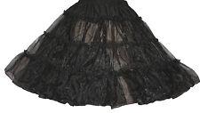 "BLACK 50'S POODLE SKIRT CRINOLINE SIZE SMALL WAIST  25""-35"" Length 24"""