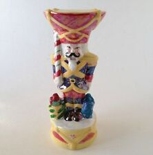 Christopher Radko 2003 Nutcracker Dandy Ceramic Candle Holder Christmas Nib