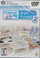 Challenge Me Brain Puzzles 2 PC Games Windows 10 8 7 XP Computer sudoku NEW