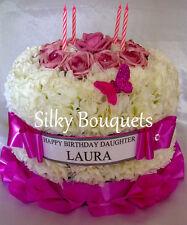 Artificial Silk Flower Birthday Cake Funeral Wreath Anniversary Tribute Memorial