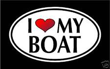 "5.75"" I LOVE MY BOAT vinyl decal sticker.. boats"