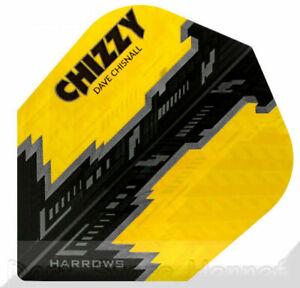 "6 Dart Flights Harrows ""CHIZZY"", Dave Chisnall, gelb"