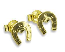 ECHT GOLD *** Kleine Ohrstecker Ohrringe Hufeisen 6 mm