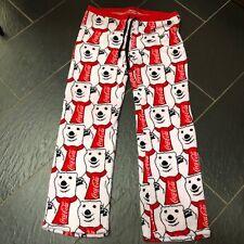 69a840e557 COCA COLA Donna Rosso Bianco Orso Polare Pile Pigiama Bottoms Pantaloni XXL