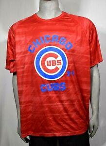 Chicago Cubs Mens Under Armour Loose Fit Shirt Size 2XL Red UA Heatgear Shirt