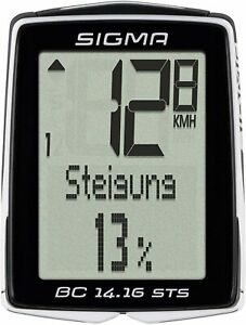 SIGMA BC 14.16 STS CAD Digital Wireless Bicycle Computer w/ Cadence