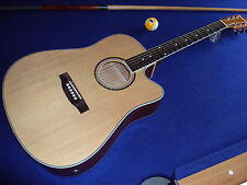 Scalloped Dreadnought Westerngitarre Pickup+EQ, Malmsteen/Blackmore/Uli J Roth