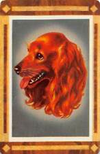 Dog Head Single Swap Playing Card Vintage Queen of Hearts