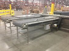 "Conveyor 32"" wide x 10' long Intralox matting SS frame"