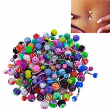 20PCS/Pack Navel Ring Crystal Belly Button Ring Bar Piercing Belly Dance Jewelry