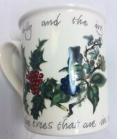 Portmeirion Pottery Stoke On Trent Holly & Ivy 8 oz Mug Cup Made In England