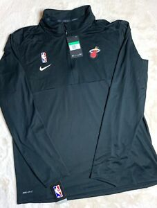 XL Miami Heat Nike Dri-Fit NBA Long Sleeve Shirt Black AV1751-010 Size XL-TALL