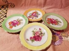 Vintage Set of 4 Children's tea set plates Lusterware with Florals Made in Japan