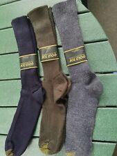 Vintage 3 prs Gold Toe Fluffies Mens Socks Gray, Brown, Navy *Nos*