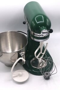 KITCHENAID MIXER KSM90GN 10 SPEED MIXER FOREST GREEN ATTACHMENTS & BOWL TESTED