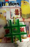BIRD TOYS for small to medium birds, ASSORTED TYPES