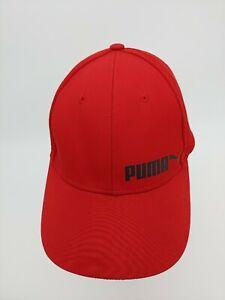 Puma Red with Black Cat Low Adjustable Snapback Cap hat