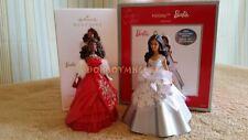 Hallmark 2012 Carlton Cards/AG 2013 AA Holiday Celebration Barbie Ornament LOT