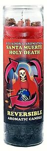CANDLE COCKTAIL AROMATIC HOLY DEATH REVERSIBLE-SANTA MUERTE REVERSIBLE