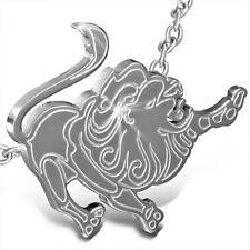 Pendentif Zense zodiaque astrologique lion homme acier inoxydable ZP0159