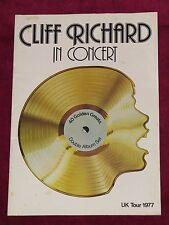 CLIFF RICHARD IN CONCERT - UK 1977 PROGRAMME! TICKET STUB SOUTHAMPTON GAUMONT!