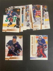 2000/01 Upper Deck New York Rangers Team Set 15 Cards Young Guns