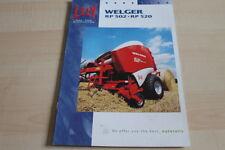 128364) Lely Welger Rundballenpresse RP 502 520 Prospekt 10/2006