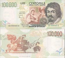 FIOR DI STAMPA 100.000 LIRE CARAVAGGIO 2° TIPO LETTERA D