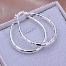 925 Silber Creole Ohrringe Damen Hohe Qualität Schmuck Gr:3,5 CM Ohrschmuck Neu
