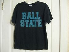 t-shirt black ball state gildan heavy cotton medium 100% cotton preshrunk haiti