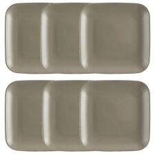 Set Of 6 Mason Cash 27cm Stoneware Grey Dinner Plate Dinnerware Dining Plates