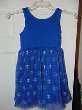 HELLO KITTY NAVY BLUE SAILOR DRESS size 6 Cute Anchor Print NAUTICAL Tank 6 NICE