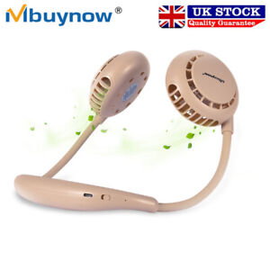 Mini Hanging Neck Fan Portable Neckband Bladeless Lazy Cooler USB Rechargeable