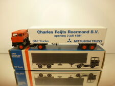 LION CAR 59 DAF 2800 TRUCK + TRAILER - FEIJTS ROERMOND - 1:50 - EXCELLENT IN BOX