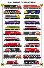 "Railroads of Montreal 11""x17"" Railroad Poster by Andy Fletcher signed"