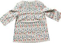 BN SEASALT Ladies Picture Hook Cotton summer Top Shirt Blouse Siz 8/18 Beautiful