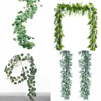 Artificial Plants Flower Greenery Garland Vine Faux Silk Vines Leaf Wreath Deco
