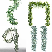 Artificial Plants Flower Greenery Garland Vine Faux Silk Vines Leaf Wreath Decor