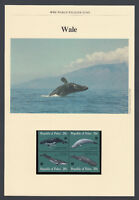 Whale Whales FOUR Postcards FOUR FDC Covers FDI WWF World Fund Republic of Palau