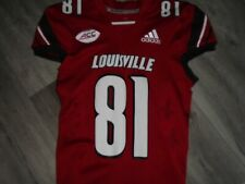Louisville Cardinals Adidas Football Emonee Spence  2018 Home Red Game Jersey LG