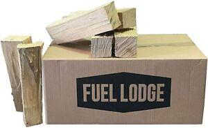 Fuel Lodge 25kg Kiln Dried Hardwood Logs - Low Moisture Under 15% - Low Bark