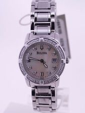 Bulova Diamond Bracelet Watch 96R105 Ladies Date MOP Dial Mother of Pearl