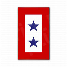 Blue Star Service 2 Stars Flag Car Truck Bumper Sticker