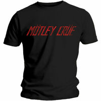 MOTLEY CRUE Distressed Logo Mens T Shirt Unisex Official Licensed Band Merch